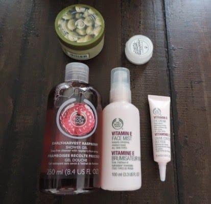 Mini shoplog met o.a. The Body Shop