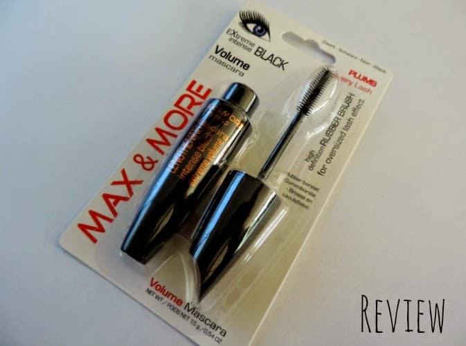 REVIEW: Max & More volume mascara extreme intense black