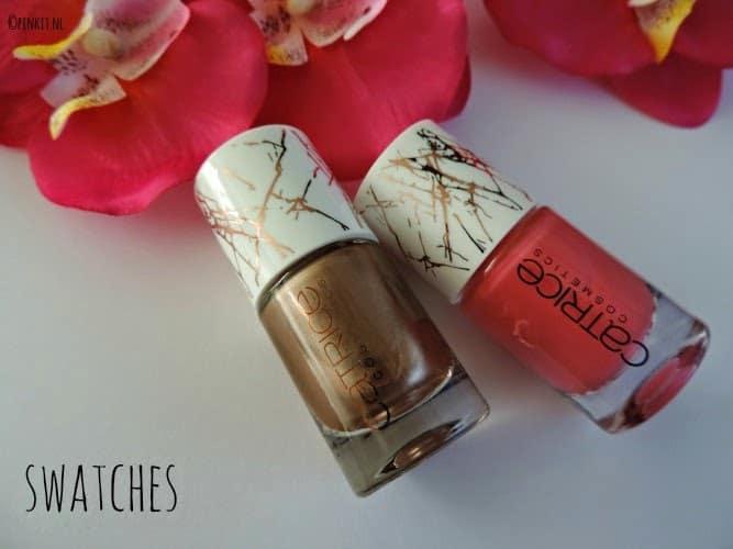 Catrice Metallure C02 Alluring Pink & C03 Metalight nagellak