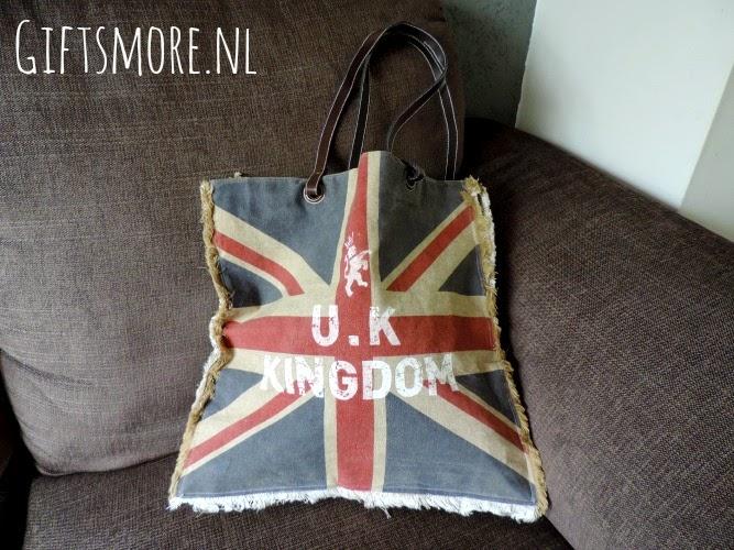 Vintage Union Jack tas van Gifts&More.