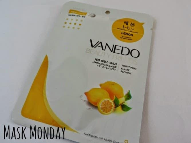 MASK MONDAY: Vanedo Beauty Friends Sheet Mask Lemon