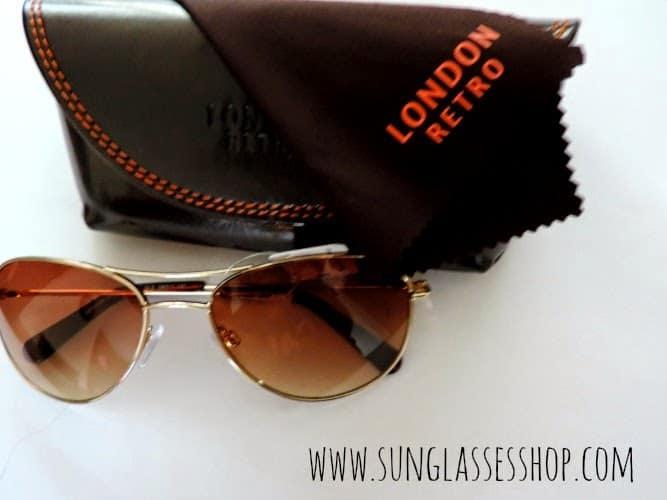 NEW IN: London Retro Jude Gold Sunglasses
