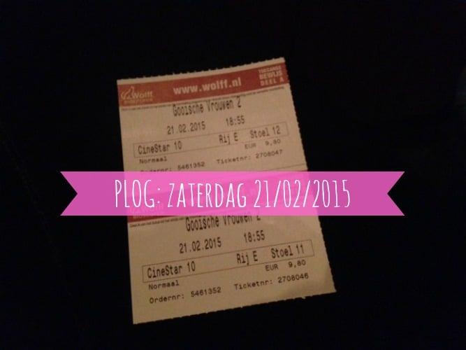 PLOG: ZATERDAG 21/02/2015
