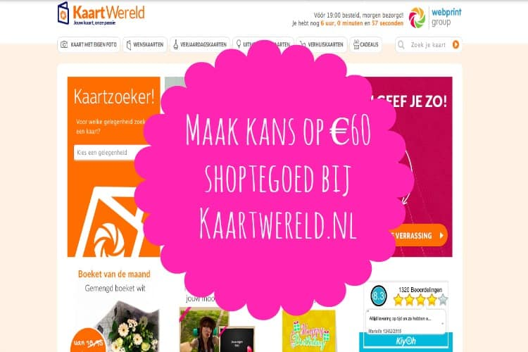 WINNEN: €60,- SHOPTEGOED BIJ KAARTWERELD.NL