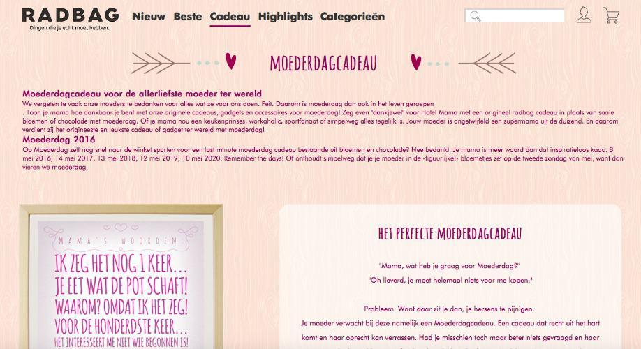 LIFESTYLE | MOEDERDAG INSPIRATIE TIPS MET RADBAG.NL