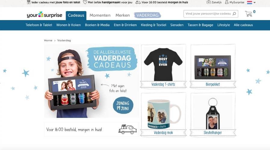 VADERDAG WINACTIE | MAAK KANS OP €30,- SHOPTEGOED VAN YOURSURPRISE