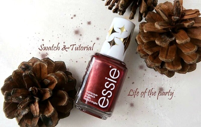 Essie | Swatch & Nailart tutorial | Life of the Party