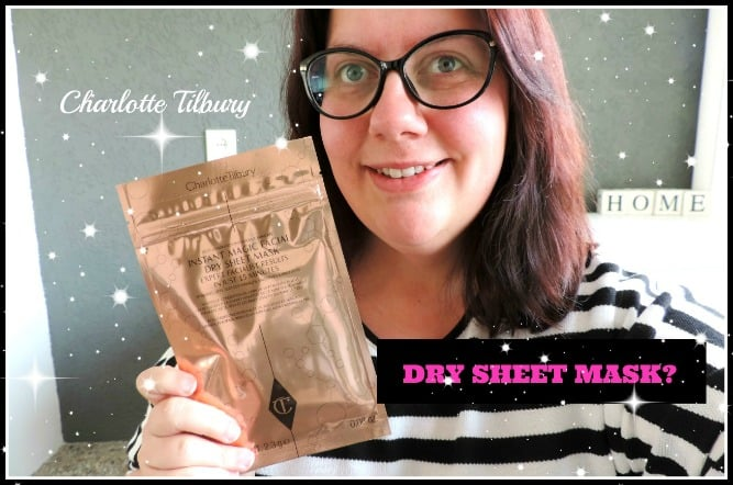 FIRST IMPRESSION | CHARLOTTE TILBURY INSTANT MAGIC DRY SHEET MASK