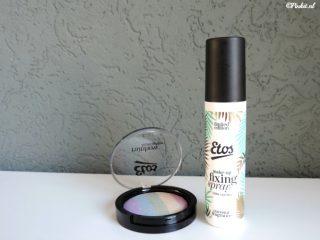 Etos Rainbow Highlighter & Kokos Make-up Fixing Spray