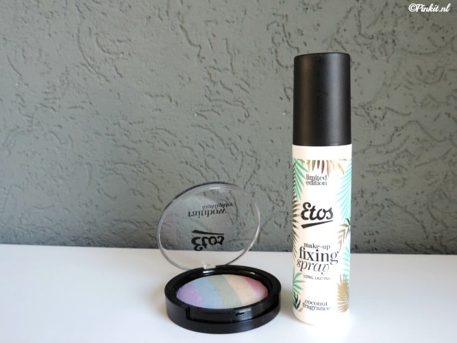 Etos Rainbow Highlighter & Kokos Make-up Fixing Spray