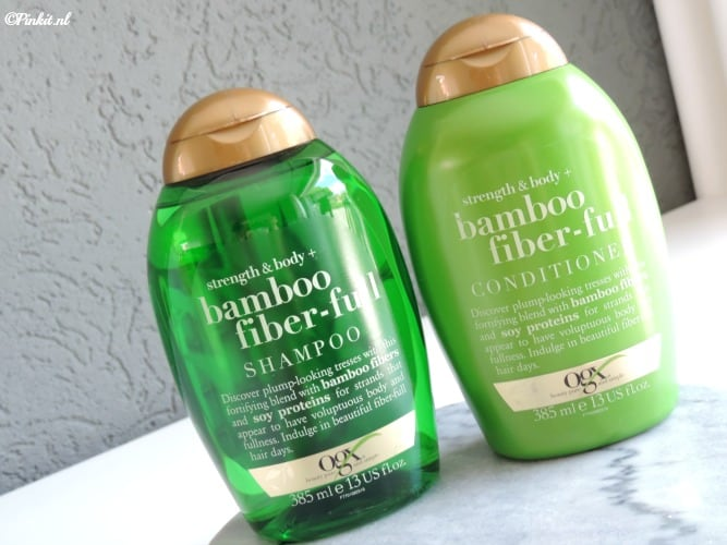 NIEUW | OGX STRENGHT & BODY + BAMBOO FIBER-FULL SHAMPOO & CONDITIONER