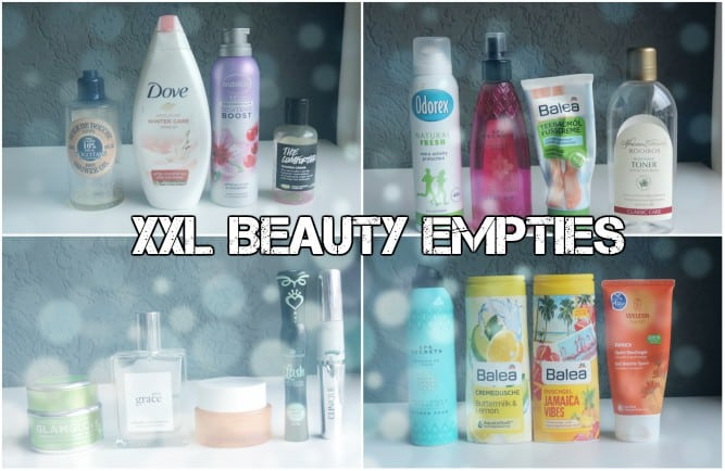 XXL BEAUTY EMPTIES DECEMBER 2017