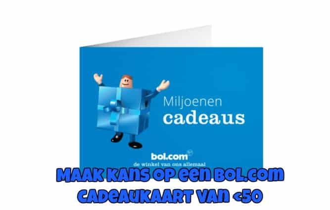 WIN | MAAK KANS OP EEN BOL.COM CADEAUBON VAN €50
