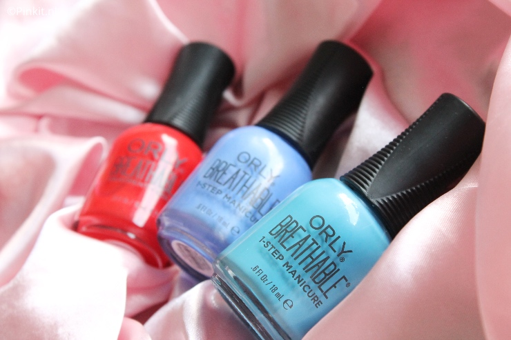 3X ORLY BREATHABLE 1-STEP MANICURE SWATCHES